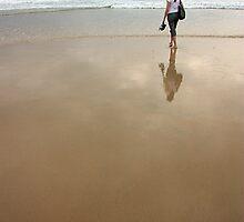 Barefoot surf solace by Stephen Denham