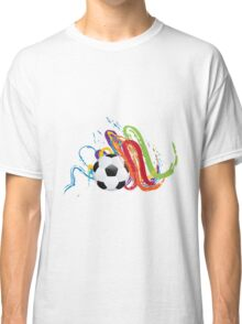 Soccer Ball with Brush Strokes Classic T-Shirt