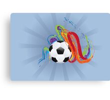 Soccer Ball with Brush Strokes Canvas Print