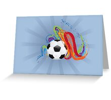Soccer Ball with Brush Strokes Greeting Card