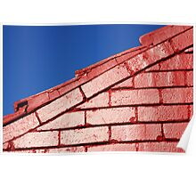 Red brick, blue sky Poster