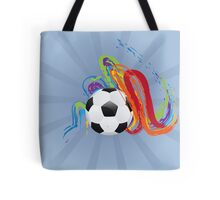 Soccer Ball with Brush Strokes Tote Bag