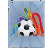 Soccer Ball with Brush Strokes iPad Case/Skin