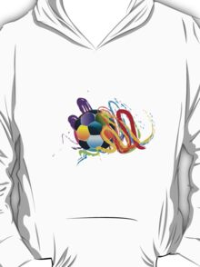 Soccer Ball with Brush Strokes 2 T-Shirt