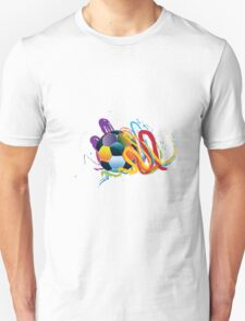 Soccer Ball with Brush Strokes 2 Unisex T-Shirt