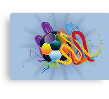 Soccer Ball with Brush Strokes 2 Canvas Print