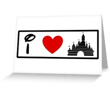I Heart Sleeping Beauty (Classic Logo) (Inverted) Greeting Card
