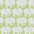 Troop Of Elephants (Elephant Pattern) - Gray Green by sitnica