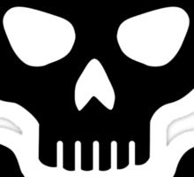 Crossed bones skull Sticker