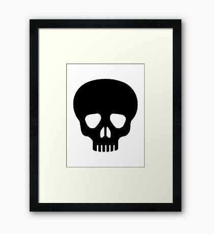 Black skull Framed Print