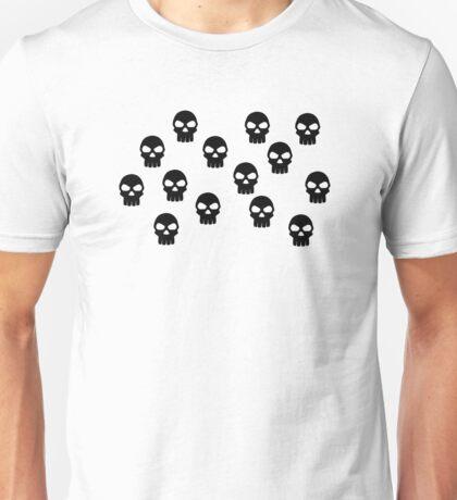 Black skulls Unisex T-Shirt