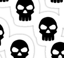 Black skulls Sticker