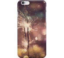 Sparkler and Colorful Bokeh iPhone Case/Skin