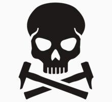 Skull crossed hammer Kids Clothes