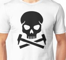 Skull crossed hammer Unisex T-Shirt