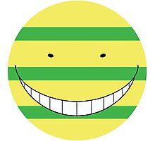 Korosensei Mockery Round Face Photographic Print