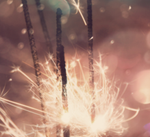 Sparkler and Colorful Bokeh Sticker