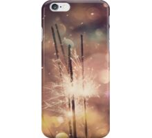 Sparkler and Colorful Bokeh 4 iPhone Case/Skin