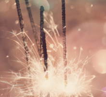 Sparkler and Colorful Bokeh 4 Sticker