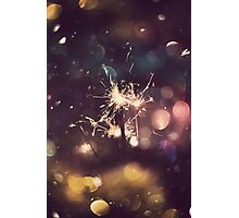Sparkler and Colorful Bokeh 5 Photographic Print