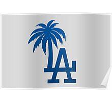 LA Palm Trees Poster