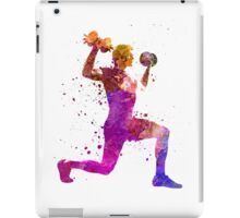 Man exercising weight training workout fitness iPad Case/Skin