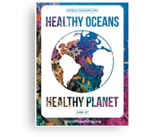 Style 2: World Oceans Day poster Canvas Print