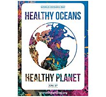 Style 2: World Oceans Day poster Photographic Print