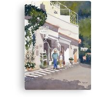 Shopping Along the Amalfi Coast Canvas Print