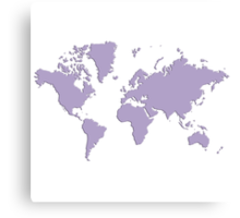 World With No Borders - light purple Canvas Print