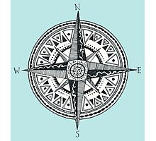 Compass with Sun  Photographic Print