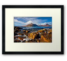 The Cuillins from Elgol, Isle of Skye, Scotland. Framed Print