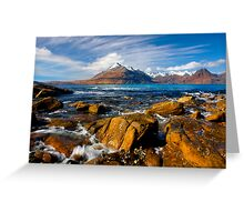 The Cuillins from Elgol, Isle of Skye, Scotland. Greeting Card