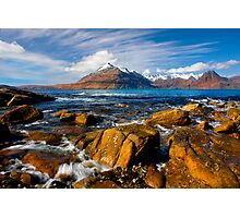 The Cuillins from Elgol, Isle of Skye, Scotland. Photographic Print