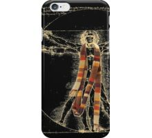 Da Vinci Meets the Doctor (Dark colors) iPhone Case/Skin