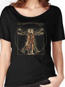 Da Vinci Meets the Doctor (Dark colors) Women's Relaxed Fit T-Shirt