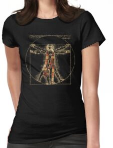 Da Vinci Meets the Doctor (Dark colors) Womens Fitted T-Shirt