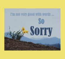 So Sorry Card With Daffodils Kids Clothes