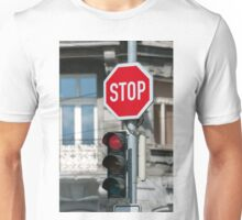Red traffic light. Unisex T-Shirt