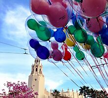 Carthay Circle Theater with Balloons by dlr-wdw