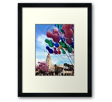 Carthay Circle Theater with Balloons Framed Print