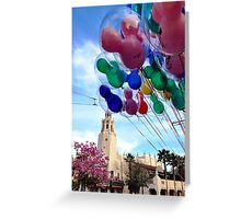 Carthay Circle Theater with Balloons Greeting Card