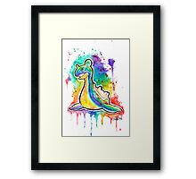Beautiful Lapras Tshirts + More ' Pokemon ' Watercolor Jonny2may Framed Print