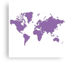 World With No Borders - purple Canvas Print
