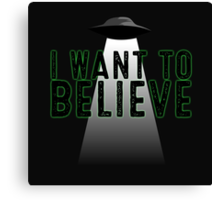 The X Files - I Want To Believe Canvas Print