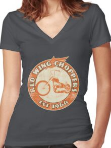Red Wing Choppers Women's Fitted V-Neck T-Shirt