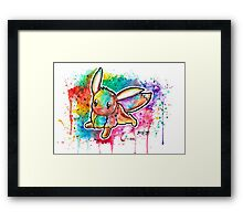 Cute Eevee Watercolor Tshirts + More! ' Pokemon ' Framed Print