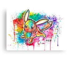 Cute Eevee Watercolor Tshirts + More! ' Pokemon ' Jonny2may Canvas Print