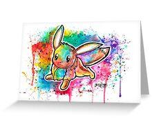 Cute Eevee Watercolor Tshirts + More! ' Pokemon ' Greeting Card