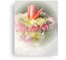 Birthday, Anniversary, Baby Girl, Breast Cancer Survivor Cake Canvas Print